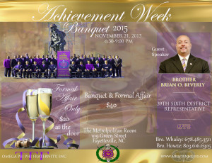 Achievement Week Flyer front